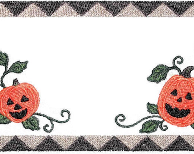 Pumpkin embroidered quilt label, to customize with your personal message