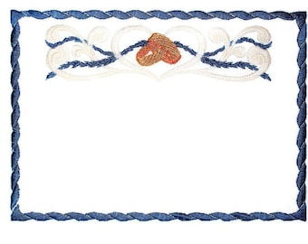 Wedding Rings & Ribbon quilt label to customize with your personal message