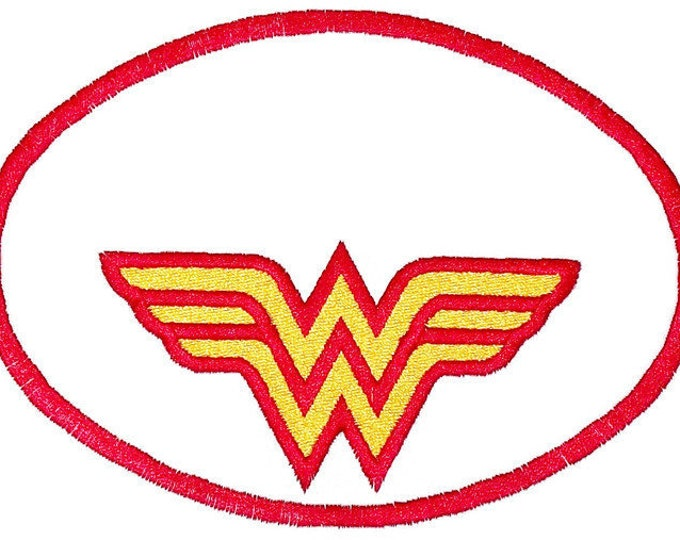 Wonder woman Embroidered Quilt Label to customize with your personal message
