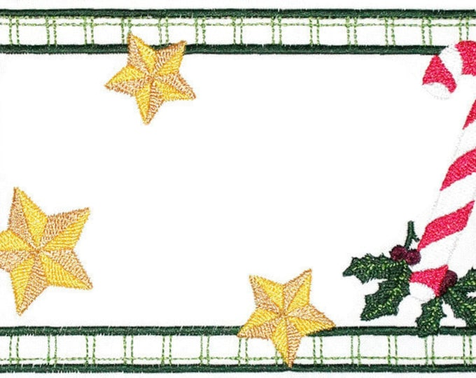 Christmas Holly embroidered quilt label, to customize with your personal message