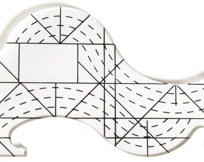 Machine Quilting Ruler for your home machine Ruler work