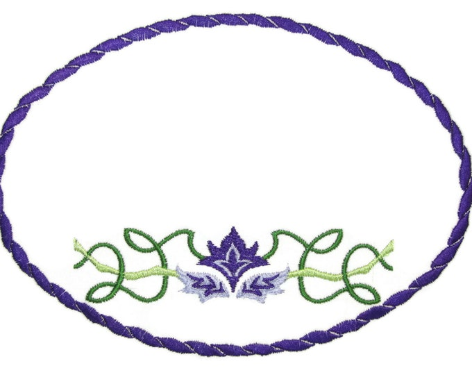 Celtic motif embroidered quilt label to customize with your personal message