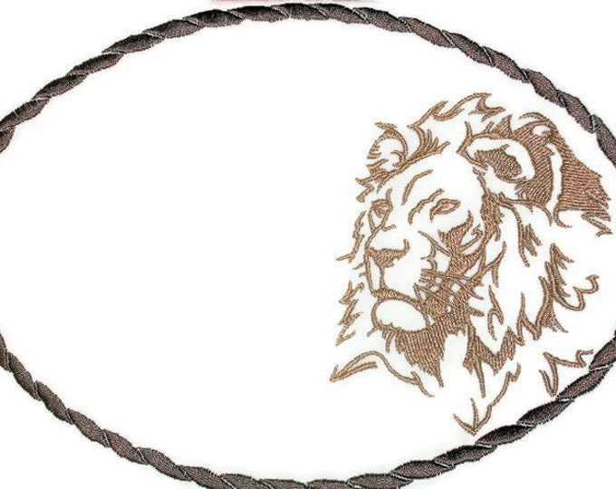 Lion Quilt label embroidered to customize with your personal message