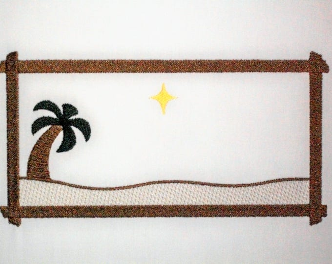 Nativity embroidered quilt label to customize with your personal message