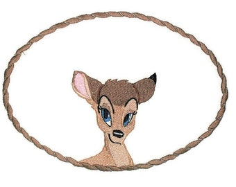 Little Deer embroidered quilt label to personalize with your own message