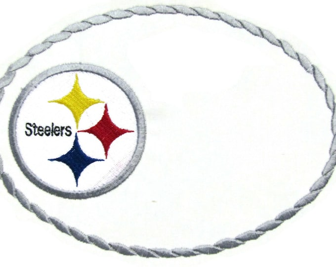 Steelers embroidered quilt label to customize with your personal message