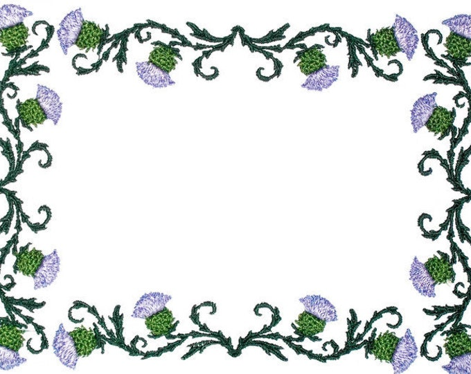 Scottish Thistle embroidered quilt label to customize with your personal message