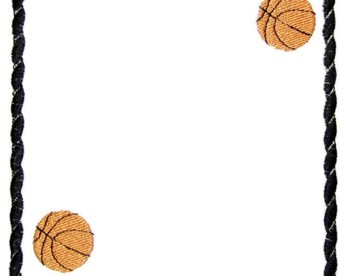 Basketball embroidered quilt label to customize with your personal message