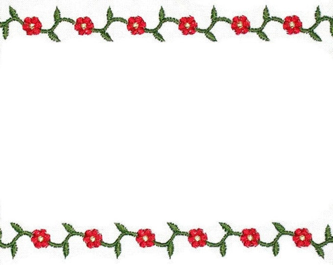 Whig Rose embroidered quilt label, to customize with your personal message