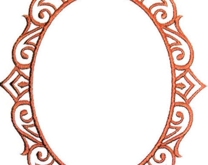 Ornate frame embroidered quilt label to customize with your personal message