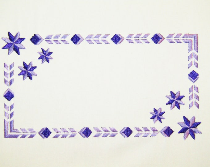Lemoine Star Embroidered Quilt Label to customize with your personal message