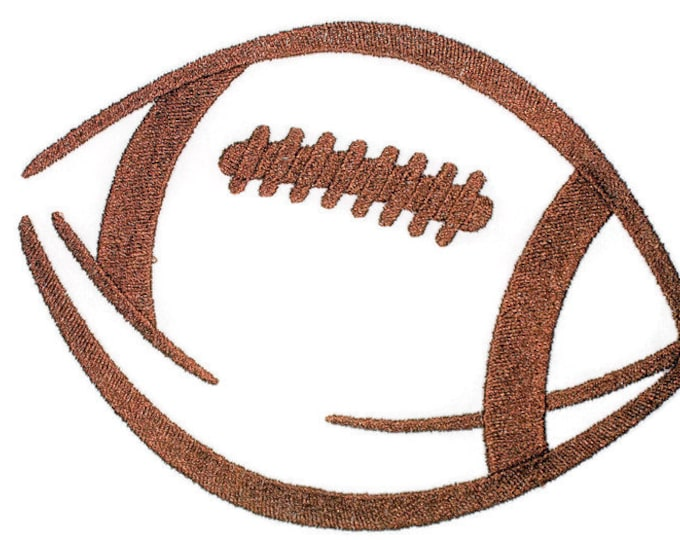 Football quilt label embroidered to customize with your personal message