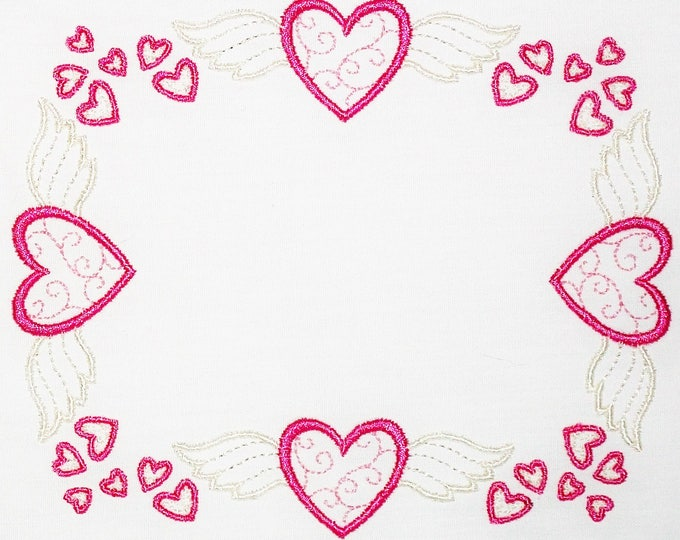 Heavenly Hearts Embroidered Quilt Label to customize with your personal message