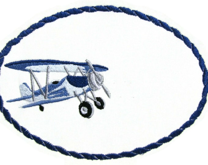 Bi-plane embroidered quilt label to customize with your personal message