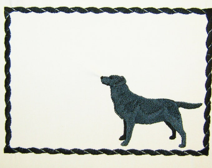 Labrador Retriever Embroidered Quilt Label to customize with your personal message