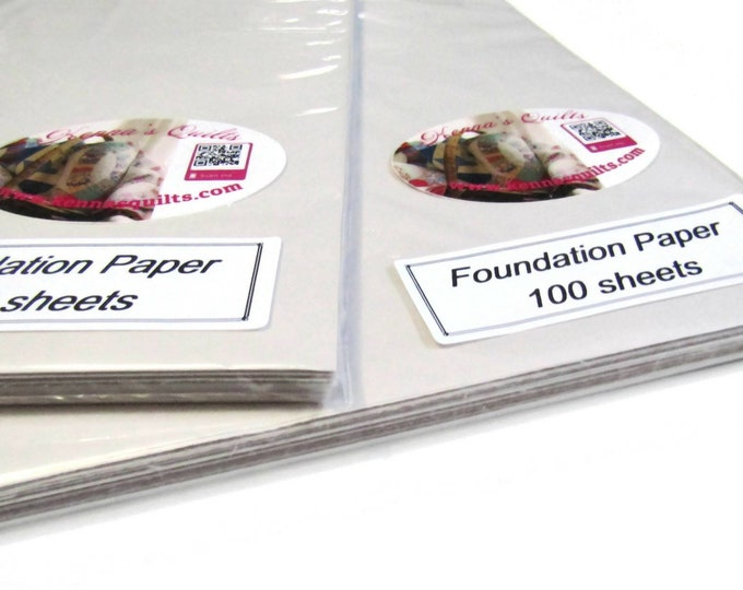 "2x - 100 sheet package of Foundation Paper for paper piecing.  8.5"" x 11"" Use in your printer."