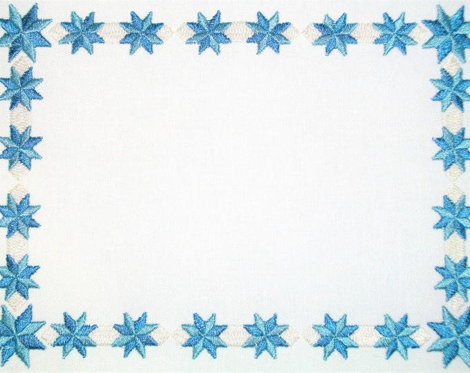 Lemoine Star embroidered quilt label, to customize with your personal message