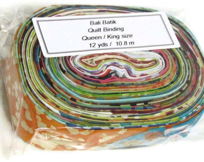 Scrappy Bali Batik Quilt Binding, Crib -King size single fold binding 5m-10.8m (5.5yds -12yds)