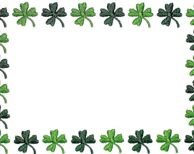 Four leaf clover embroidered quilt label to customize with your personal message