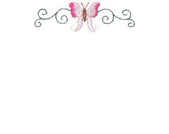 Butterfly & Ivy embroidered quilt label, to customize with your personal message