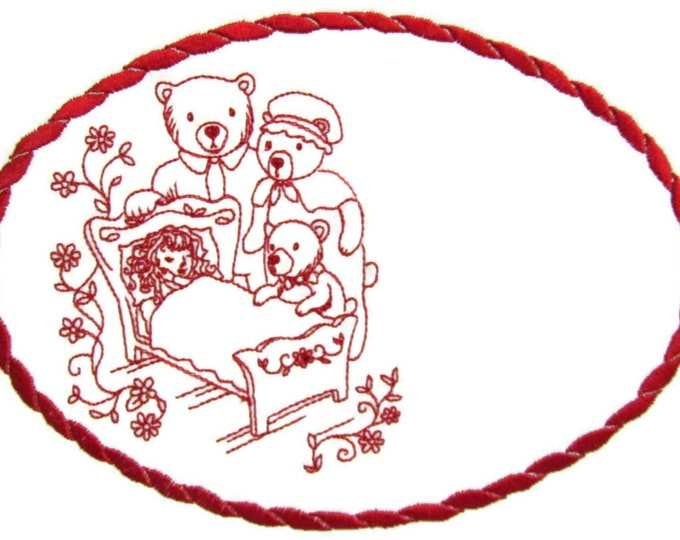 Goldielocks Embroidered Quilt Label to customize with your personal message
