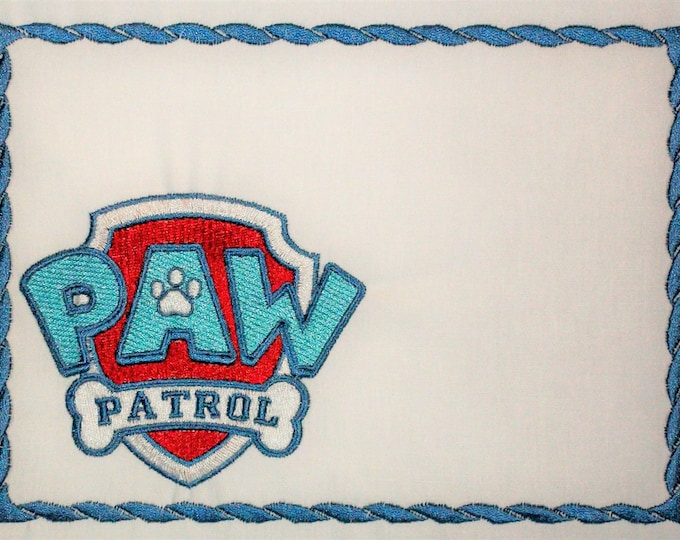 Paw Patrol Embroidered quilt label to customize with your personal message