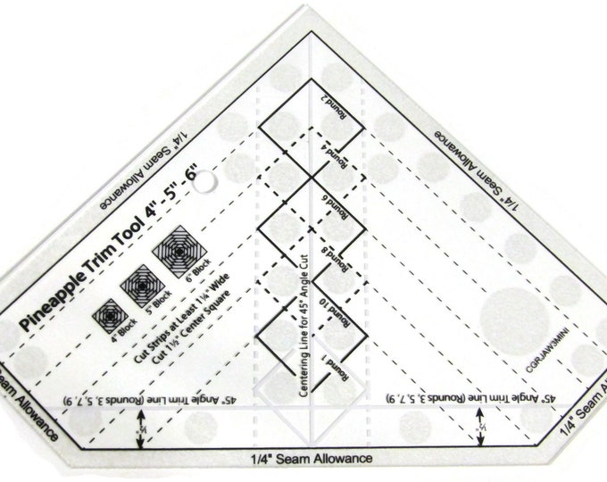 Pineapple block quilting ruler for perfect patchwork accuracy