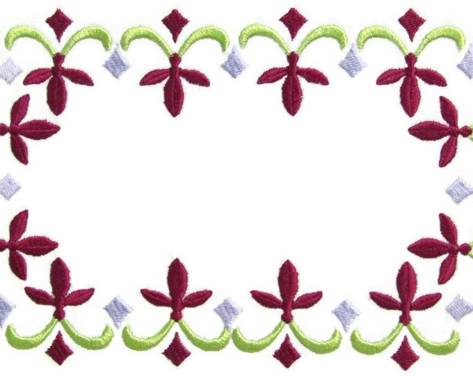 Fleur-de-Lis embroidered quilt label to customize with your personal message