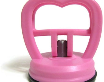 Ruler handle for quilt ruler and rotary cutting, suction cup pink