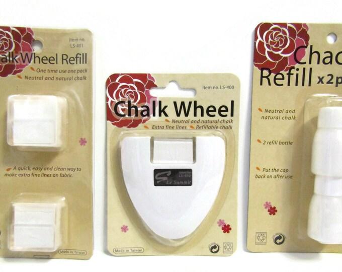 White Chalk Wheel - square chalk refill - round chalk refill