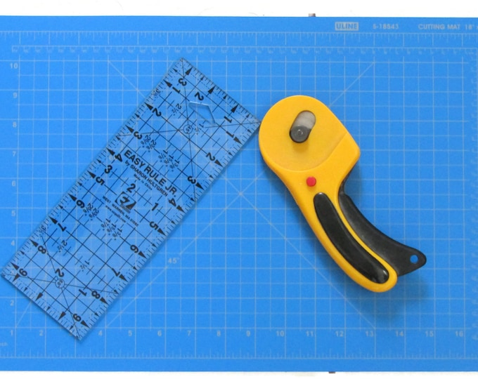 Blue Rotary Cutting Mat - 2 Sizes Available- Made from recycled materials