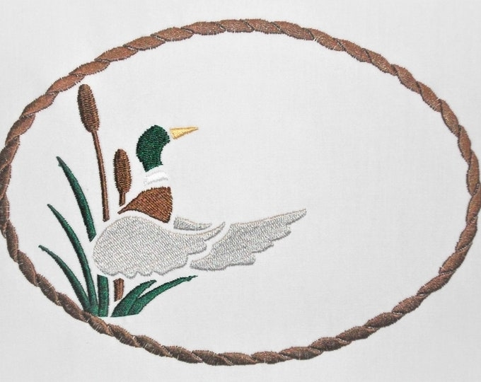 Mallard embroidered quilt label to customize with your personal message