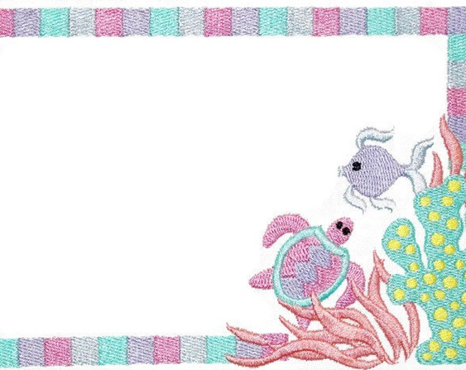 Under the Sea embroidered quilt label, to customize with your personal message