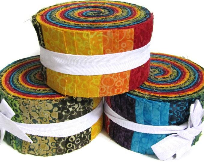 """Celestial Batik Jelly roll 40 strips x 2.5"""" wide 100% Cotton"""