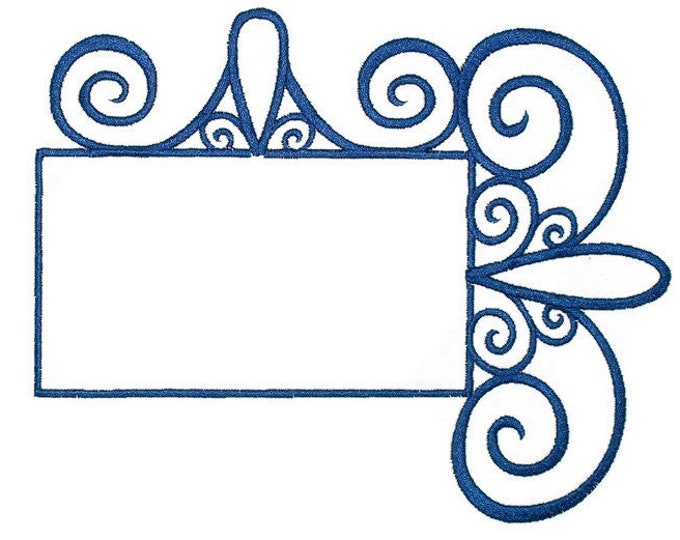Wrought Iron framed embroidered quilt label to customize with your personal message