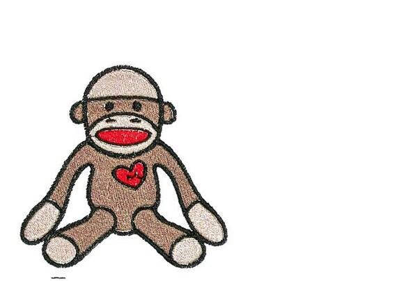 Sock Monkey Write-On Labels 6 Sizes