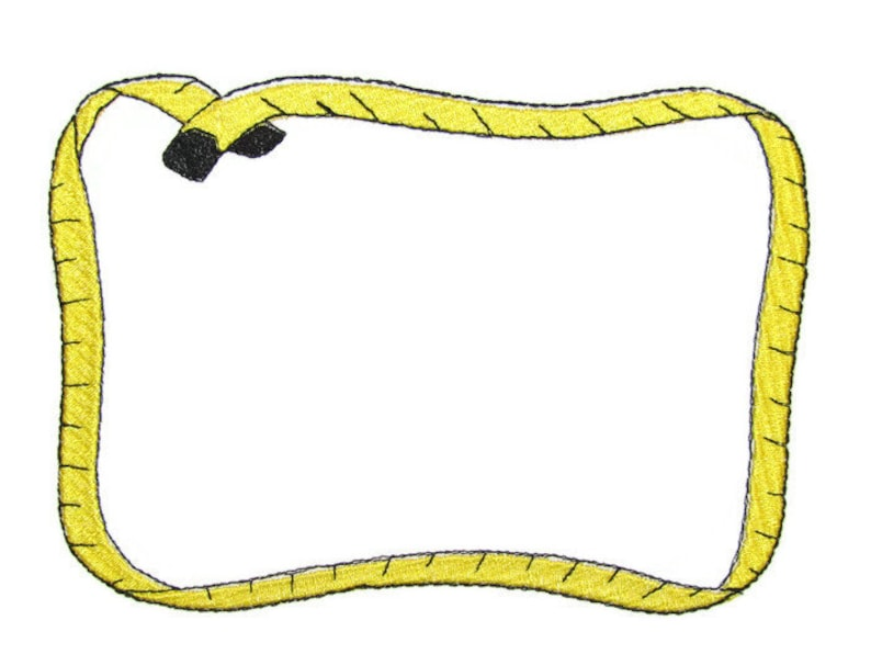 Crafty Measuring tape Embroidered Quilt Label to customize with your personal message