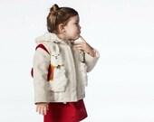 Merino Wool Lucky Llama Coat