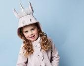 Magical Unicorn Coat // Girls Pink Unicorn Coat// Silver & Pink Handmade Unicorn Coat// Girls Wool Outerwear// Handmade Clothing