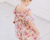 Girl Pink Floral Summer Dress// Juliet Dress in Mauvey Liberty London// Flower Girl Dress// Girls Summer Clothing// Handmade Cotton Dress