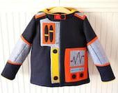 Kid Robot Coat in Navy Wool