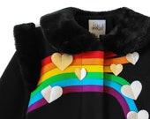 Rainbow Coat//  Ladies Queen of Hearts Coat