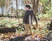 Boy's Bunny Coat// Brown Rabbit Coat// Kids Wool Coat// Easter Bunny Jacket