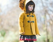 Girls Lion Coat// Girls Winter Outerwear// Handmade Wool Coat// Made in the USA Children's Clothing