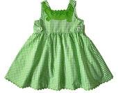 Green Alligator Dress: Later Gator Gingham Sundress
