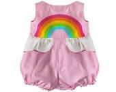 Pink Rainbow Bubble Romper