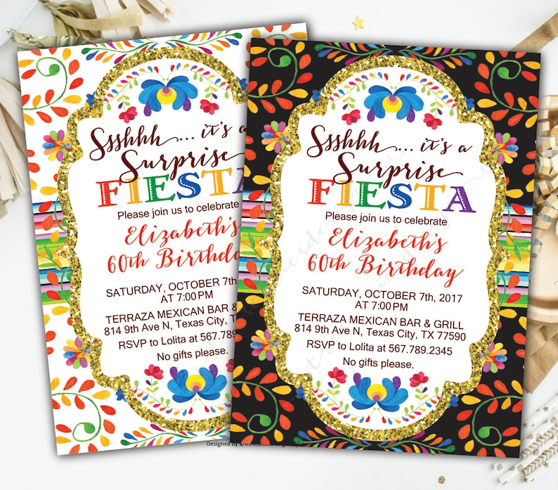 Fiesta Birthday Invitation Spanish