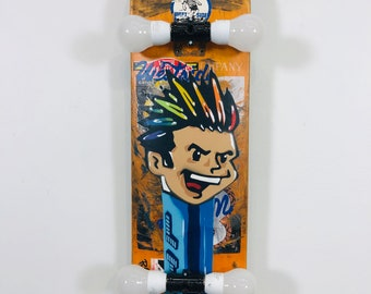 Evo Kid  (BLFB) Blue – Less Than Jake Skate Board – Mixed Media  Full Board w/lights
