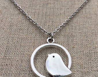 Animal Inspired Jewelry Sterling Silver Bird Pendant Necklace Christmas Gifts. Bird Necklace