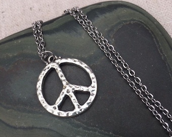 f4c003432 SALE - Peace Sign Necklace - Silver Peace Pendant - Peace Jewelry Gifts - Peace  Sign Jewelry - Gifts of Peace - Peace Gifts for Her